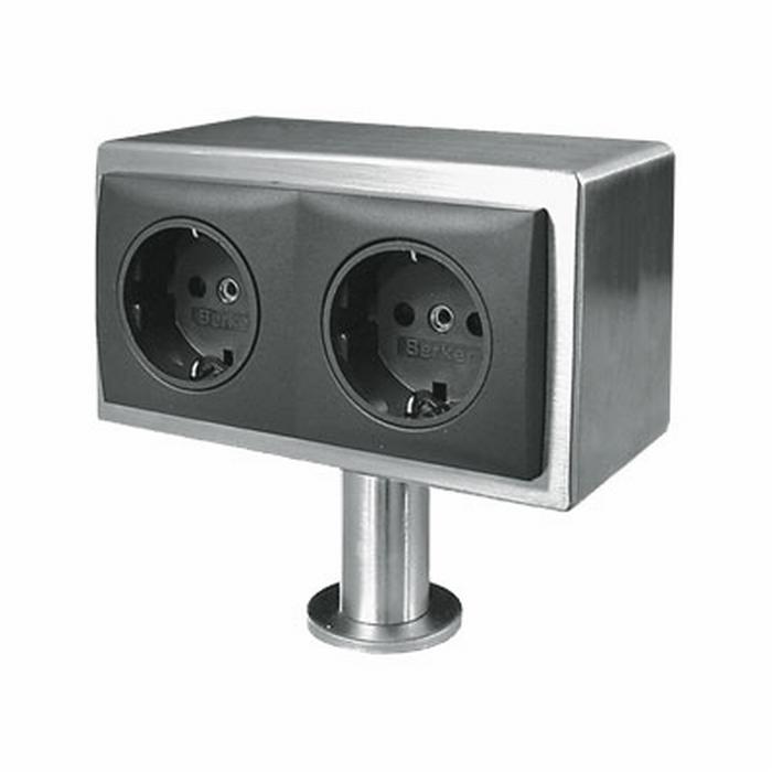 Keuken Stopcontact Onderbouw : Satelliet 2ST opbouw stopcontact. – (per stuk)