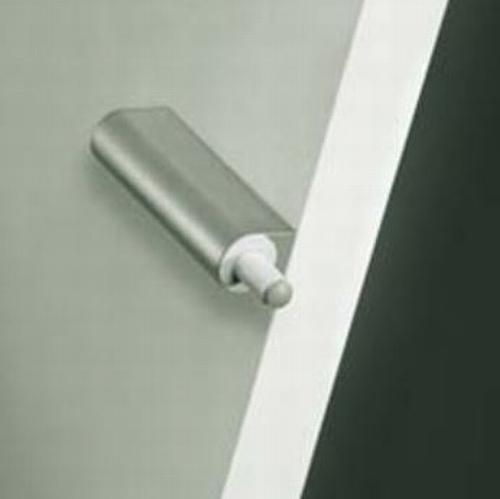 Luxe deurdemper opbouw met houder Zilver/RVS ø10mm