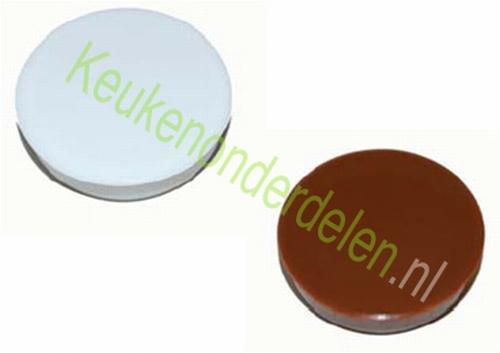 2 stuks afdekkap ø 35 mm voor scharniergat kleur WIT  (per 2 stuks)