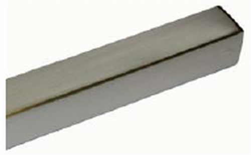 B014 Buis Tube 18x18mm L=1000mm RVS-look  (per stuk)