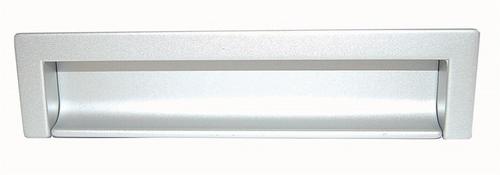 B027 Inkapgreep afst.160mm Zilver Mat  (per stuk)