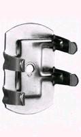 Plintklem en houder voor stelpoot diameter 25 tot 28mm