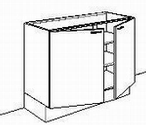 Onderkast zonder front 100 tot110cm breed d-max65cmh-max85cm