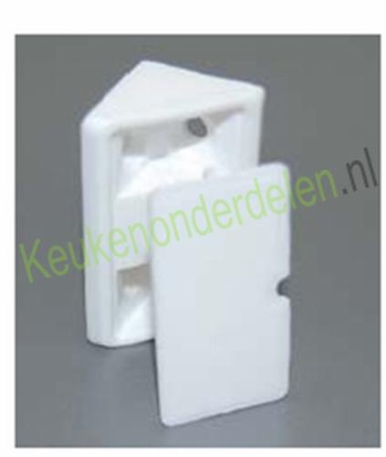 Verbinder wit kunststof voor constructiebodem