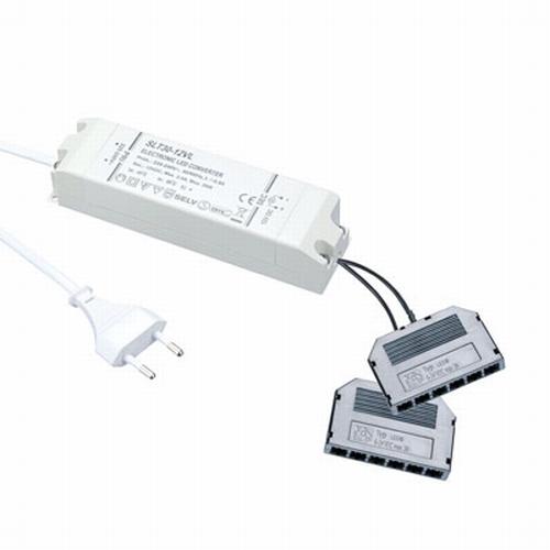 LED 12 Volt trafo 12 V/30 W dimbaar wit.