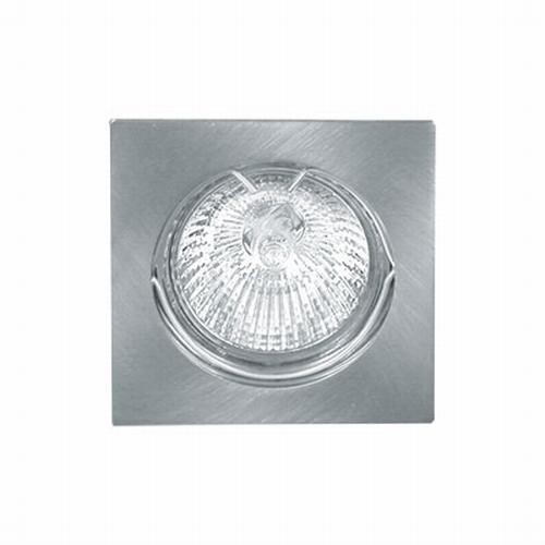 4-K - 35 Watt vierkante inbouw halogeenspot inox-look.  (per stuk)