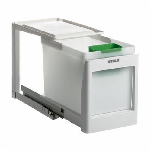 Stala model 1 K - 21 liter afvalemmer wit.