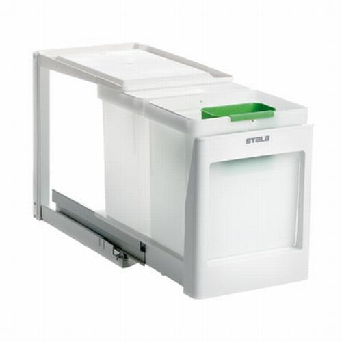 Stala model 2 PK - 2 x 10 liter afvalemmer wit.