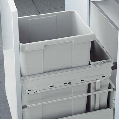 Hailo Euro-Cargo-Front 45 liter afvalemmer grijs.