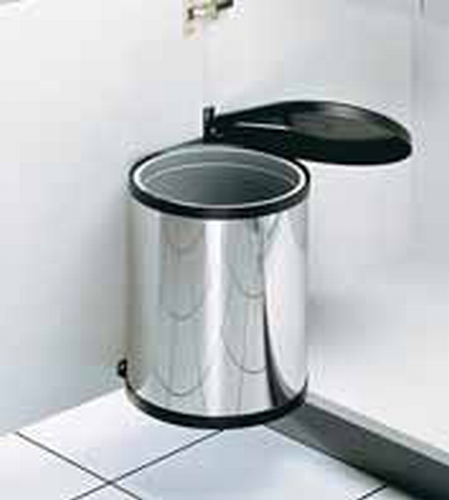 Afvalemmer 12 liter vanaf kastbreedte 400 toepasbaar RVS