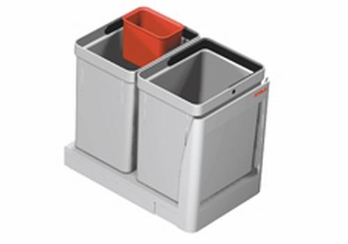 Afvalsysteem twin 2 x 10 liter vanaf kastbreedte 300mm  (per stuk)