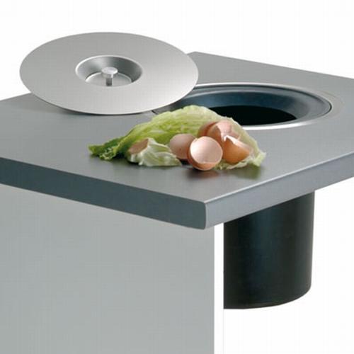 Wesco Ergomaster afvalemmer 13 liter roestvrijstaal.