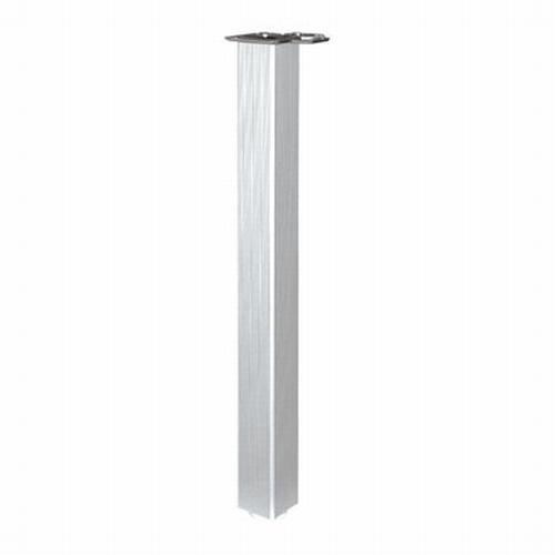 Tafelpoot standaard geribbeld aluminium.