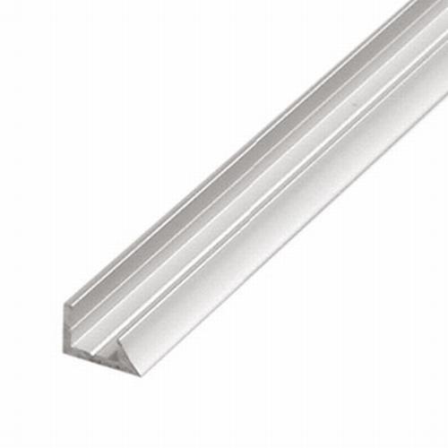 Aluminium achterwandprofiel.  (per stuk)