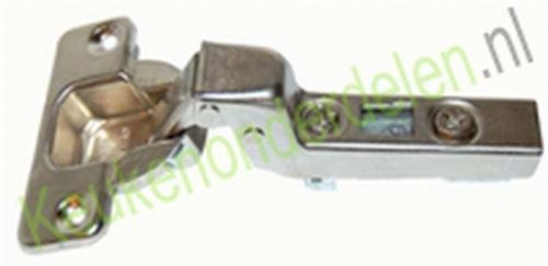 Meubelscharnier 110° (inliggend) compl.met grondplaat (clip)