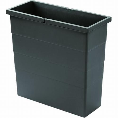 Hailo 1 x 18 liter - 380 mm hoog Donker grijs