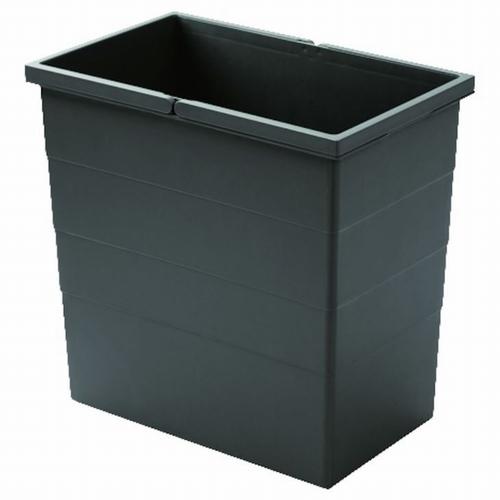 Hailo 1 x 28 liter - 380 mm hoog  Donker grijs