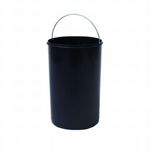 Hailo  1 x 20 liter - 413 mm hoog Zwart