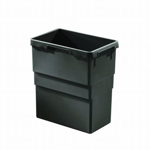 Hailo 1 x 30 liter - 413 mm hoog  Donker grijs