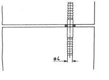 Deurdrevel metaal l=70 mm
