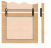 Deurverbinder metaal witgelakt l=150 mm