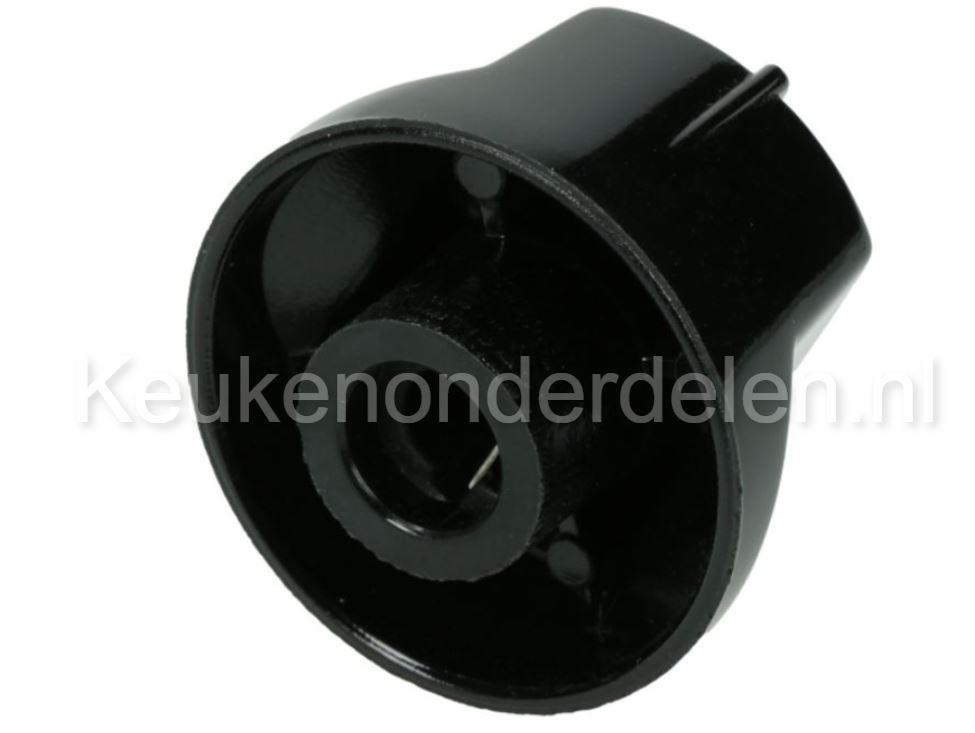 Gasknop zwart  (4 stuks)
