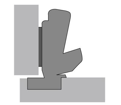 Hettich scharnier 165° ø 35mm compl.met grondplaat (clip)
