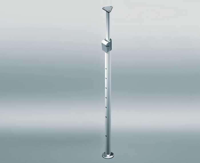 Lemans Arena (wit/chroom) 45 cm L 20KG (90° hoek oplossing)