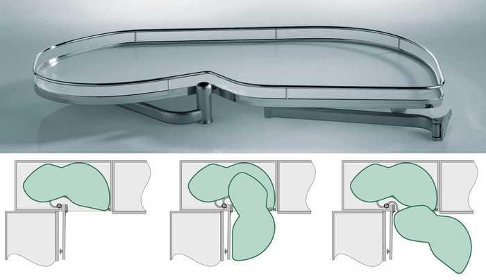 Lemans Arena (wit/chroom) 45 cm R 20KG (90° hoek oplossing)