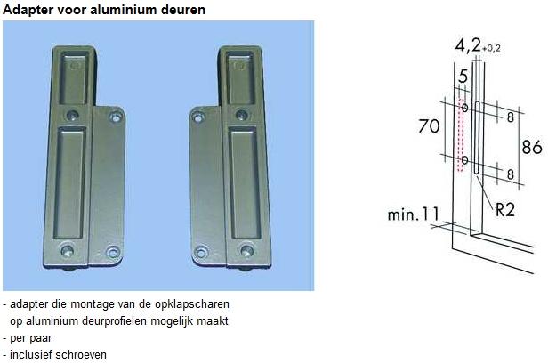 Liftbeslag Schuine opklapschaar type Vela 72