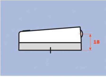 Opzetdemper/ houder/ grondplaat voor Salice scharnier 110°