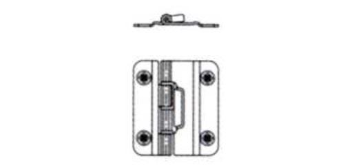 Salice koppelscharnier voor vouwdeur/liftbeslag, set van 2