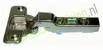 Meubelscharnier voor tussenwand met grondplaat dekking 6mm