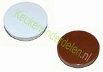 2 stuks afdekkap ø 35 mm voor scharniergat kleur WIT