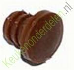 Deurdemper in zachte kunststof, diameter boring 5mm bruin