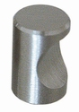 B007 Knop cylinder ø 25mm RVS (per stuk)