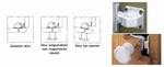 Veiligheids (magneet) kastslot Verpakt per 2 stuks