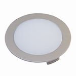 Hera FR-68 LED ronde inbouwspot inox-look - 24V warm wit. (per set)