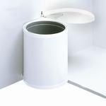 Hailo Mono 12 liter afvalemmer wit.  (per stuk)