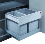 Hailo Tandem-S-Plus-Automatic 30 liter afvalemmer grijs-zilv