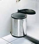 Afvalemmer 12 liter vanaf kastbreedte 400 toepasbaar RVS (per stuk)