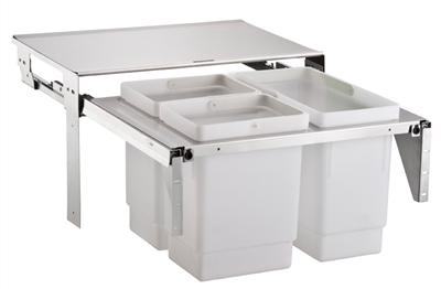 Afvalemmer STALA vanaf kastbr 600 toepasbaar 2x10+16 liter (per stuk)