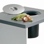 Wesco Ergomaster afvalemmer 13 liter roestvrijstaal. (per stuk)