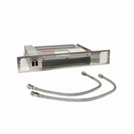 Plint-Heater/Kickspace CV - 2600 Watt roestvrijstaal. (per stuk)