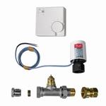 Plint-Heater/Kickspace - Thermostatische afsluiter wit.