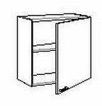 Bovenkast met 1 deur zonder front 50 tot 60 cm breed (per stuk)