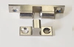 Kogelsnapper 50 mm met tegenplaat messing vernikkeld