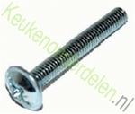 Afbreekbare schroeven M4x45 geschikt voor grepen + knoppen (per 10 stuks)