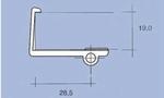 Schapdrager klem 19mm Wit (5mm boring) setje L&R