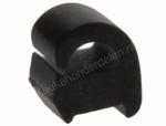 Klem van pannendrager (zwart rubber)